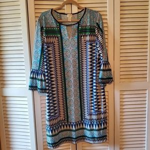 Chicos Aztec Print Dress